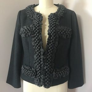 J.Crew Gray 100% Wool Textured Jacket Size 4